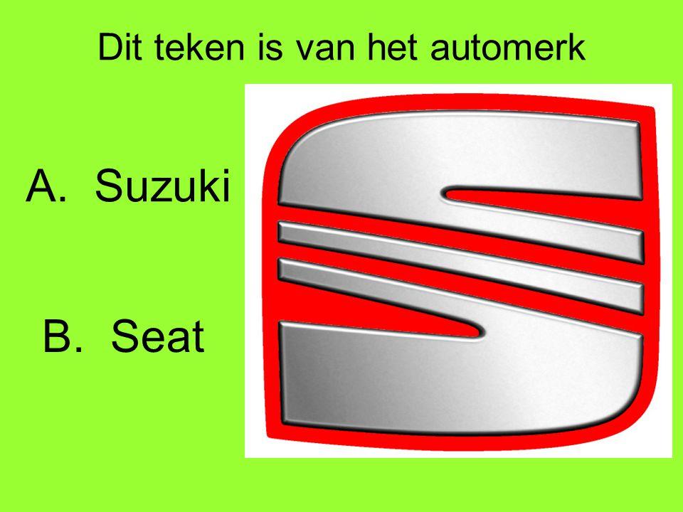 Dit teken is van het automerk A.Suzuki B.Seat