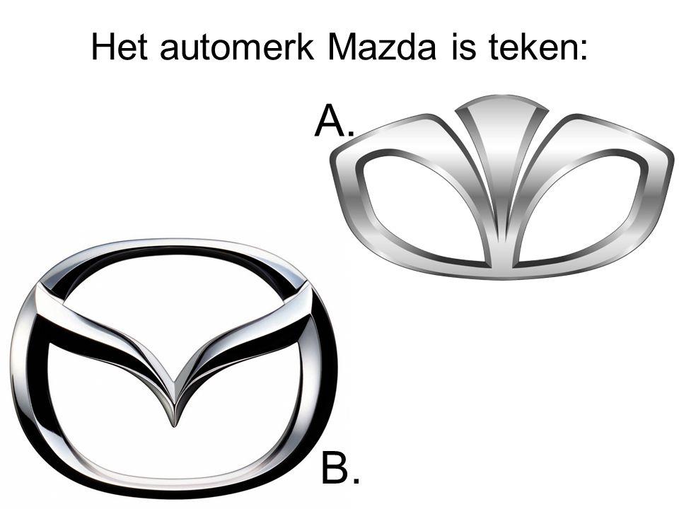 Het automerk Mazda is teken: A. B.