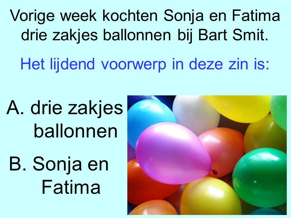 Vorige week kochten Sonja en Fatima drie zakjes ballonnen bij Bart Smit.