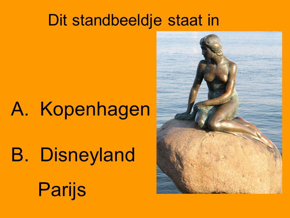 Dit standbeeldje staat in A.Kopenhagen B. Disneyland Parijs