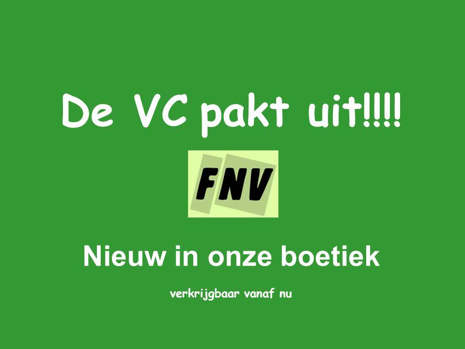De VC pakt uit!!!! Nieuw in onze boetiek verkrijgbaar vanaf nu
