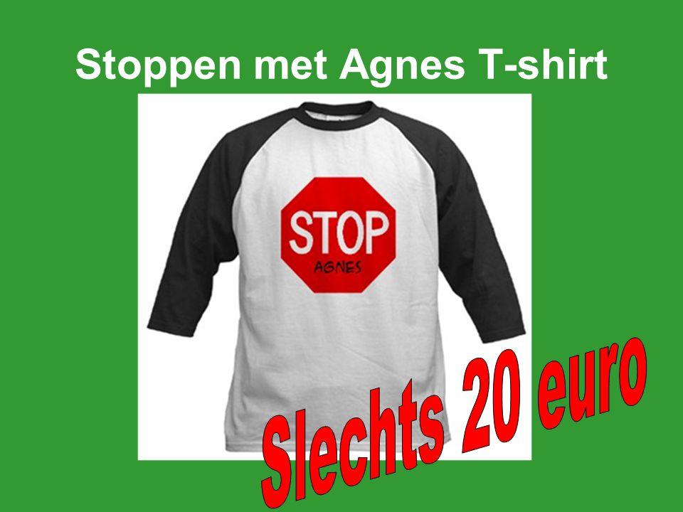 Stoppen met Agnes Teddy Bear Onze pluche beer is een cutie in zijn eigen boodschap-dragende T-shirt en feestelijke rode en blauwe linten.