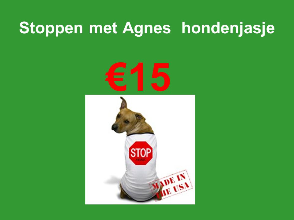 Stoppen met Agnes hondenjasje €15
