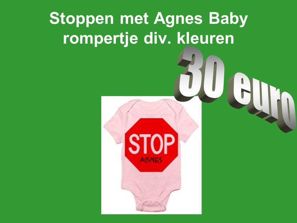 Stoppen met Agnes Baby rompertje div. kleuren