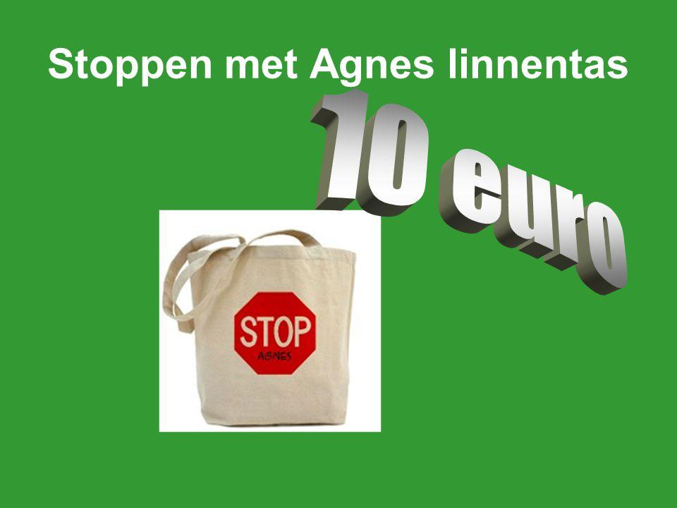 Stoppen met Agnes linnentas