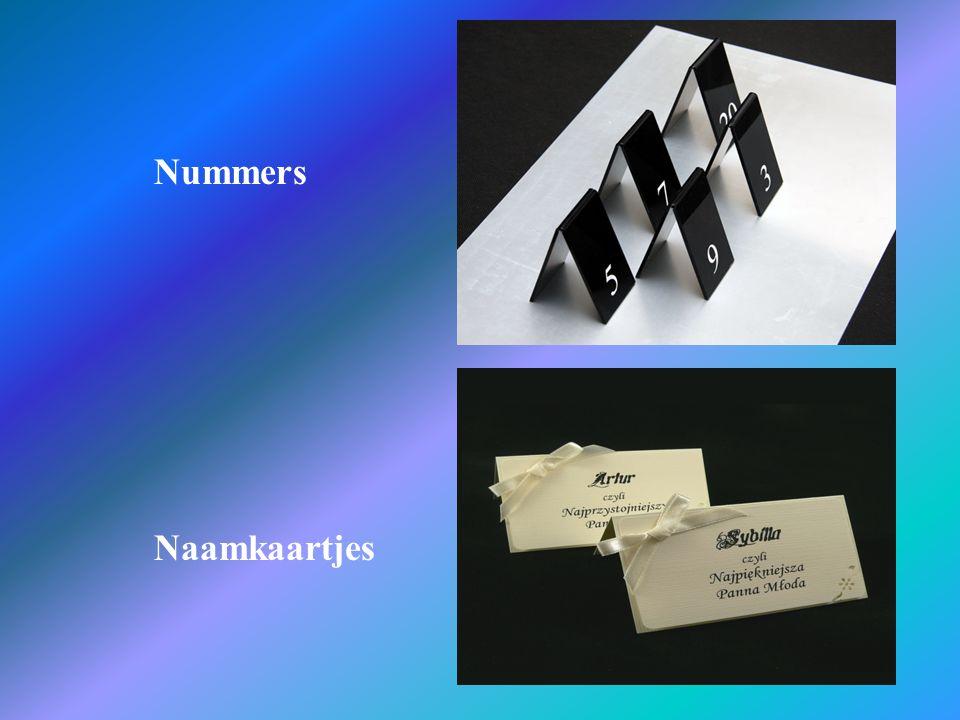Nummers Naamkaartjes