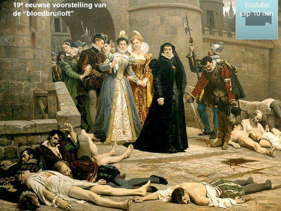 "19 e eeuwse voorstelling van de ""bloedbruiloft"" Youtube clip 10 min Youtube clip 10 min"