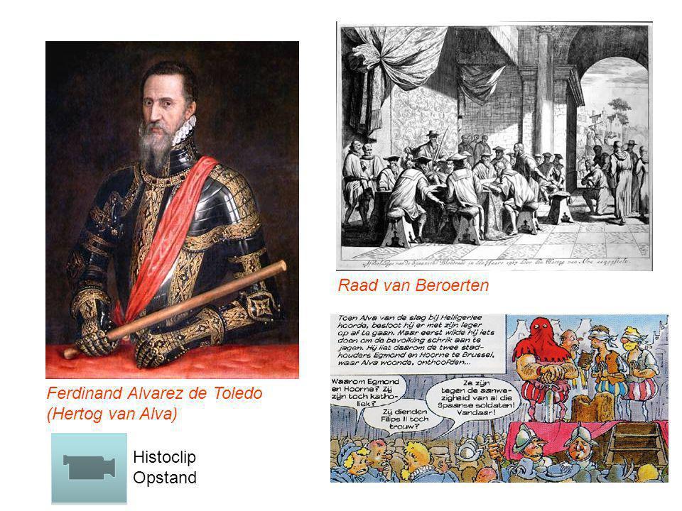 Ferdinand Alvarez de Toledo (Hertog van Alva) Raad van Beroerten Histoclip Opstand