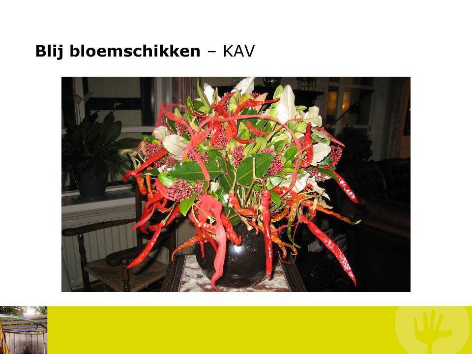 Blij bloemschikken – KAV