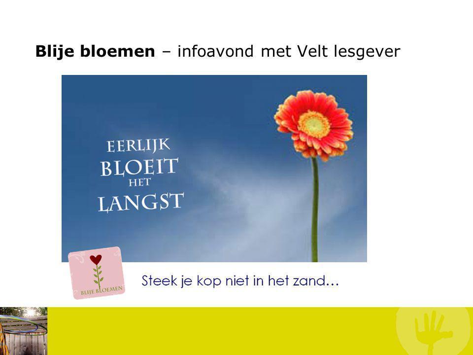 Blije bloemen – infoavond met Velt lesgever
