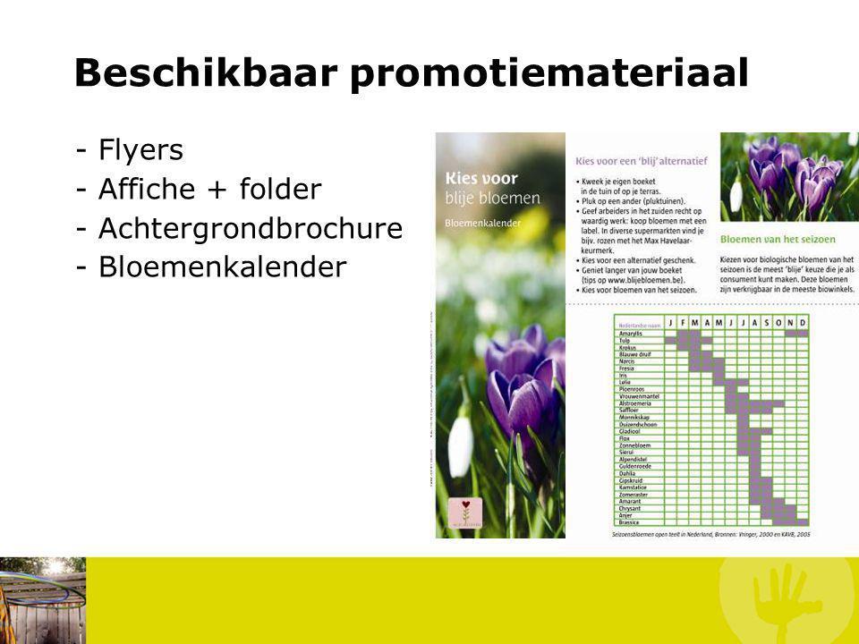 - Flyers - Affiche + folder - Achtergrondbrochure - Bloemenkalender Wat kan jij doen.