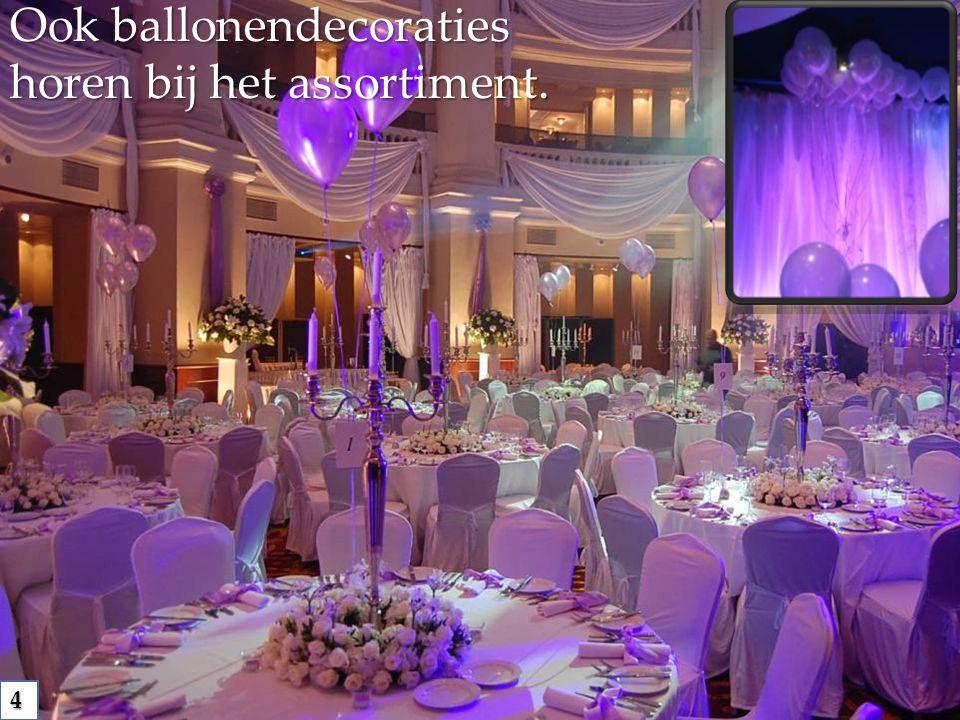 Ook ballonendecoraties horen bij het assortiment. 4