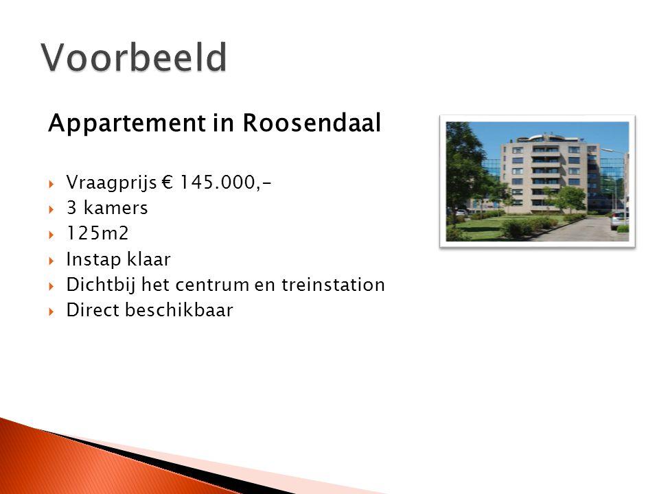 Appartement in Roosendaal  Vraagprijs € 145.000,-  3 kamers  125m2  Instap klaar  Dichtbij het centrum en treinstation  Direct beschikbaar