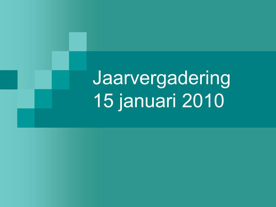 Jaarvergadering 15 januari 2010