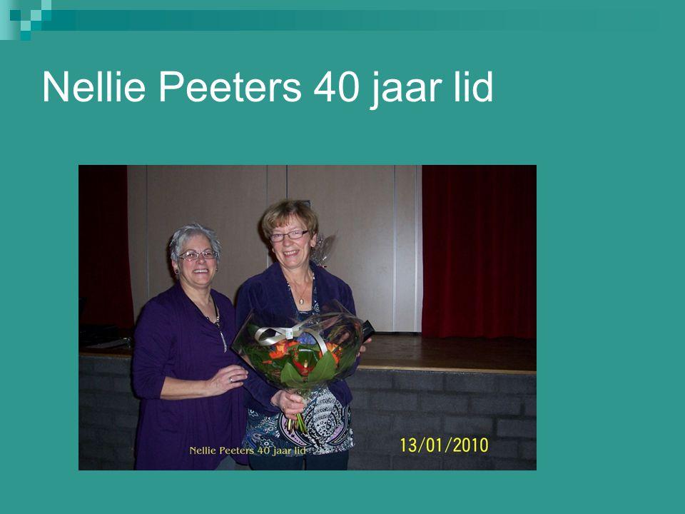 Nellie Peeters 40 jaar lid