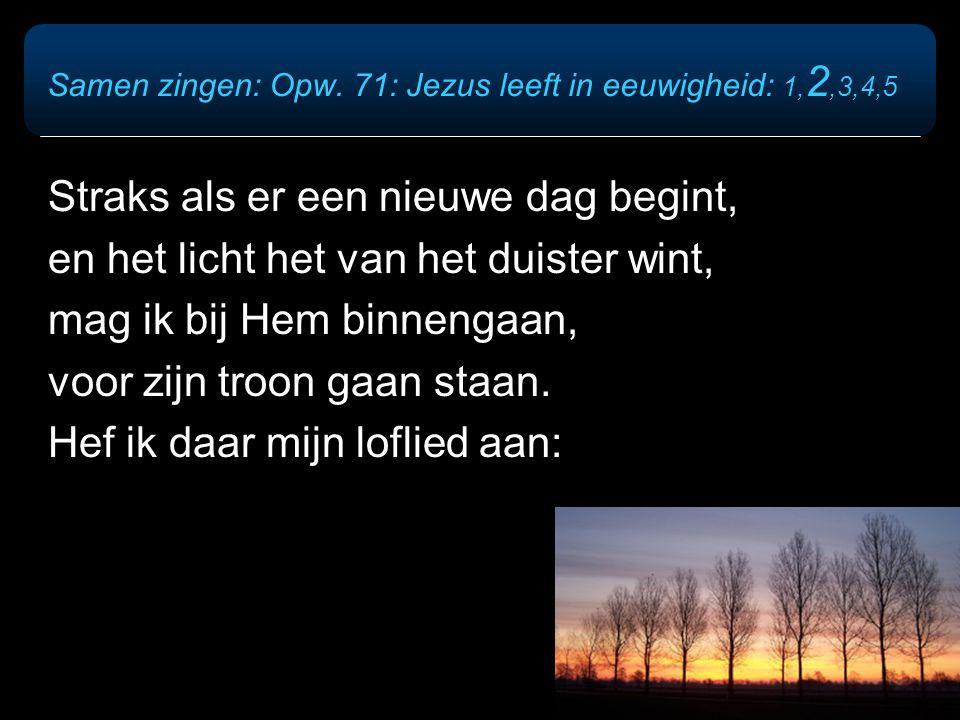 Refrein: Jezus leeft in eeuwigheid, zijn sjaloom wordt werkelijkheid.