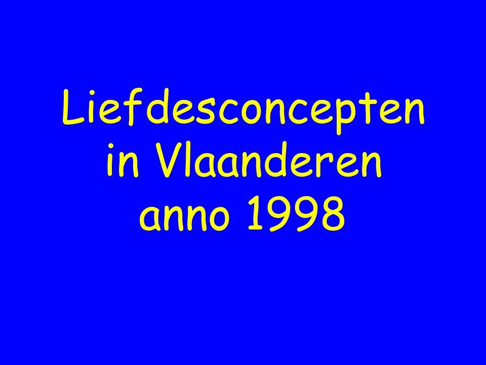 Liefdesconcepten in Vlaanderen anno 1998