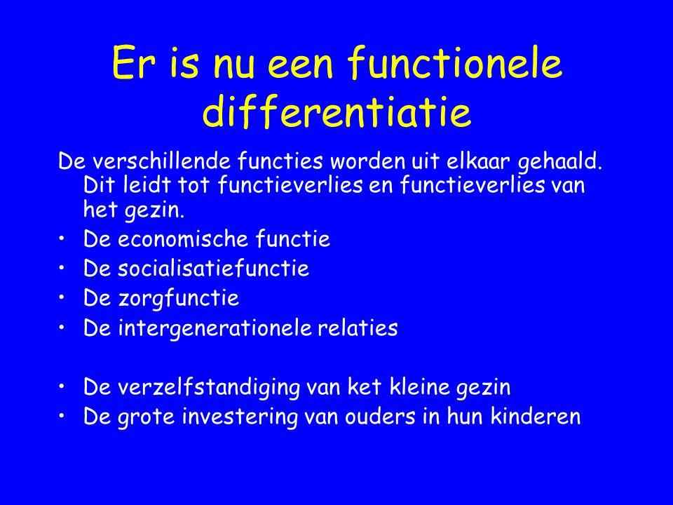 Er is nu een functionele differentiatie De verschillende functies worden uit elkaar gehaald. Dit leidt tot functieverlies en functieverlies van het ge