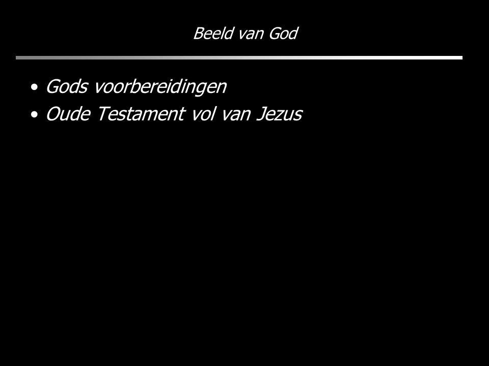 Beeld van God Gods voorbereidingen Oude Testament vol van Jezus