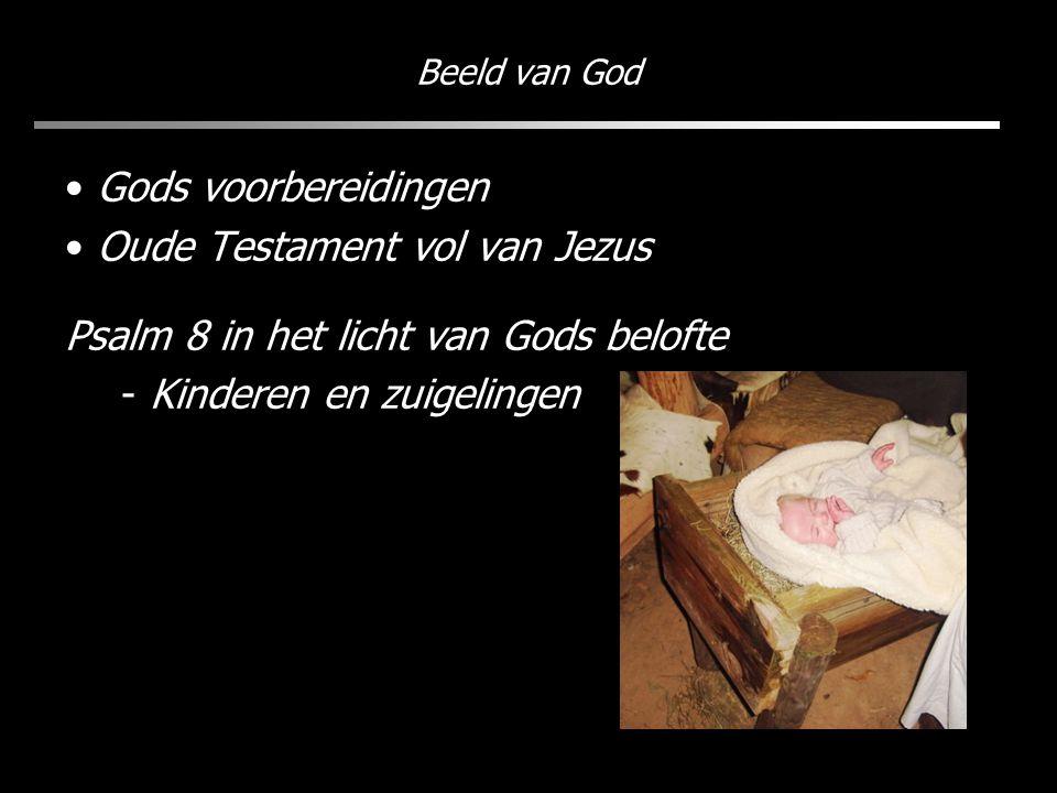 Beeld van God Gods voorbereidingen Oude Testament vol van Jezus Psalm 8 in het licht van Gods belofte - Kinderen en zuigelingen