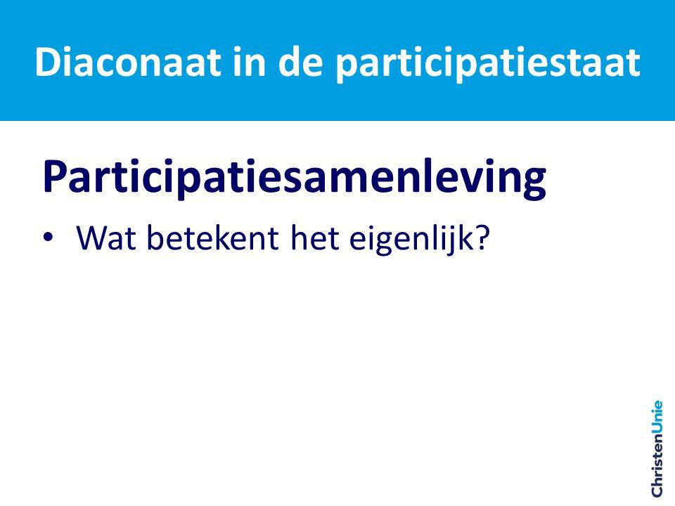 Participatiesamenleving Wat betekent het eigenlijk?