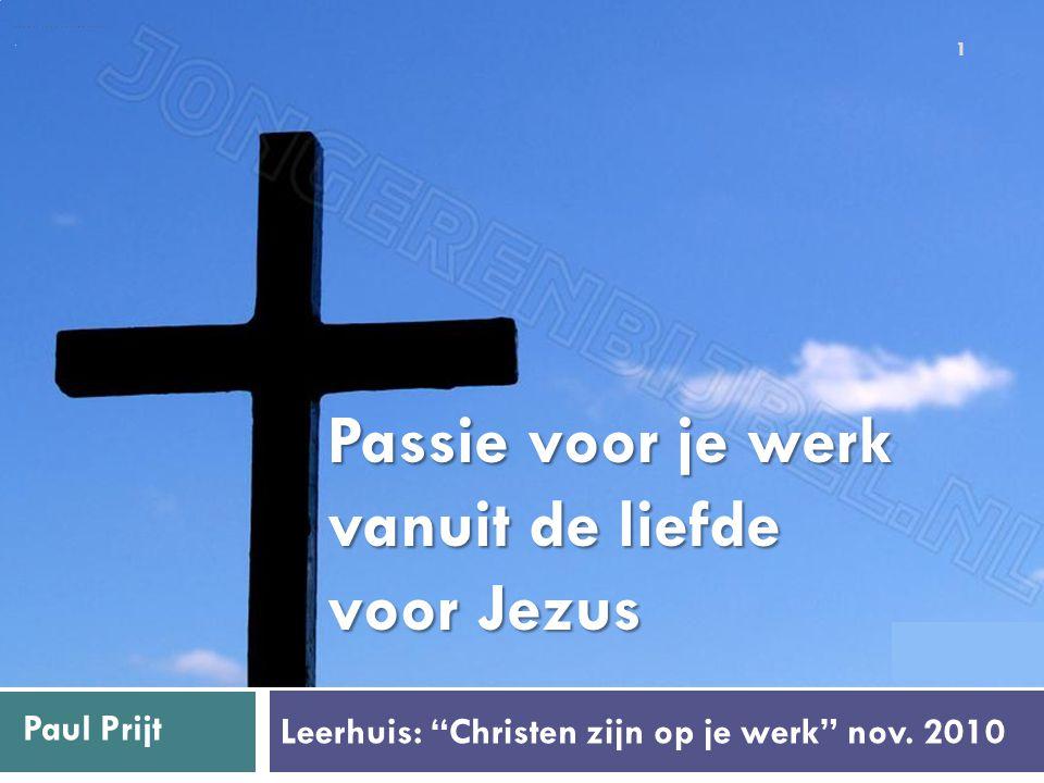 Leerhuis: Christen zijn op je werk nov.