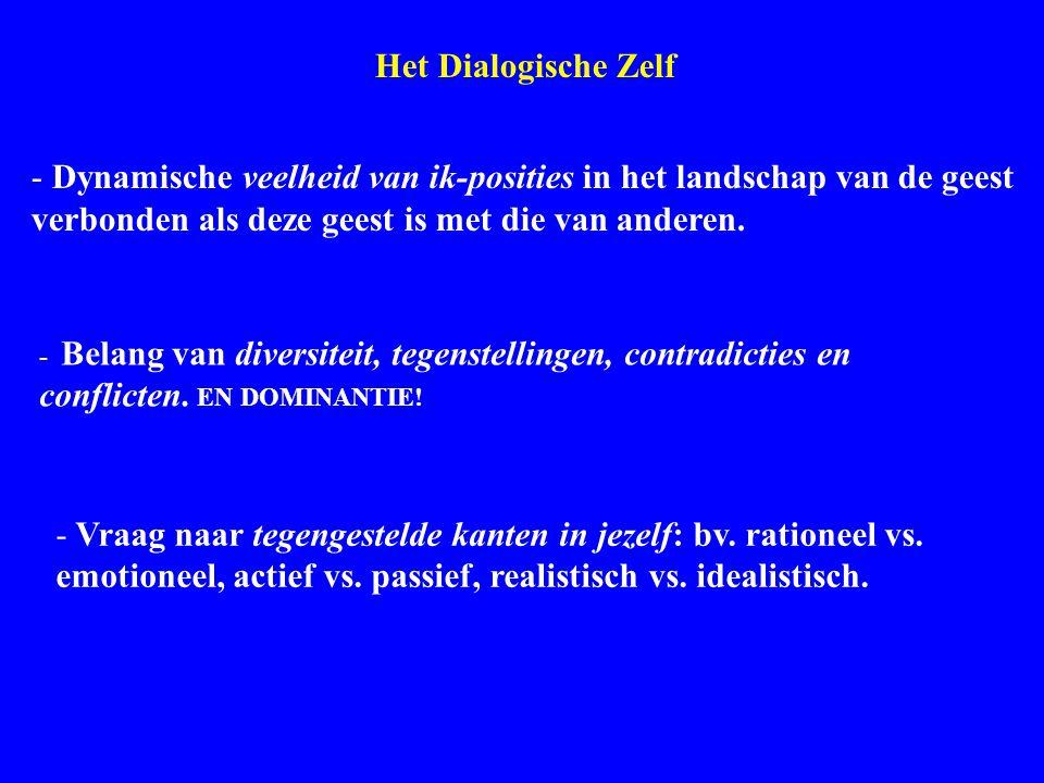 Dialogical Self Het Dialogische Zelf - Dynamische veelheid van ik-posities in het landschap van de geest verbonden als deze geest is met die van ander