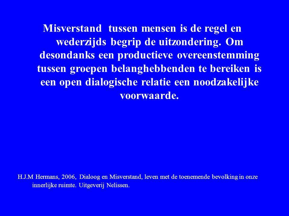 Hermans en Wijffels Misverstand tussen mensen is de regel en wederzijds begrip de uitzondering. Om desondanks een productieve overeenstemming tussen g