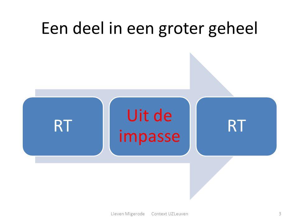 Een deel in een groter geheel RT Uit de impasse RT Lieven Migerode Context UZLeuven3