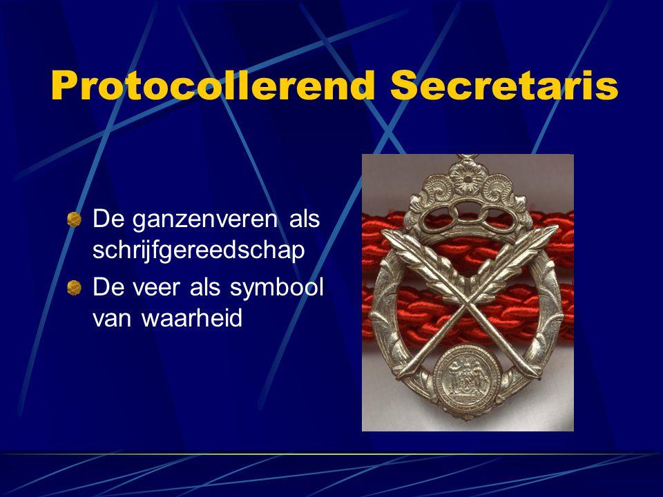 Protocollerend Secretaris De ganzenveren als schrijfgereedschap De veer als symbool van waarheid