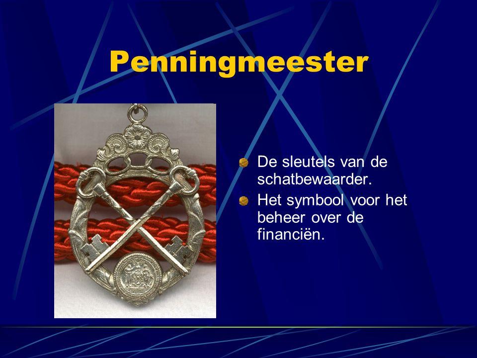 Penningmeester De sleutels van de schatbewaarder. Het symbool voor het beheer over de financiën.