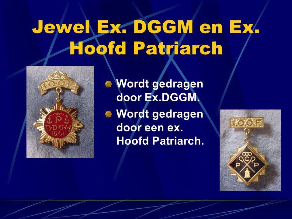 Jewel Ex. DGGM en Ex. Hoofd Patriarch Wordt gedragen door Ex.DGGM. Wordt gedragen door een ex. Hoofd Patriarch.