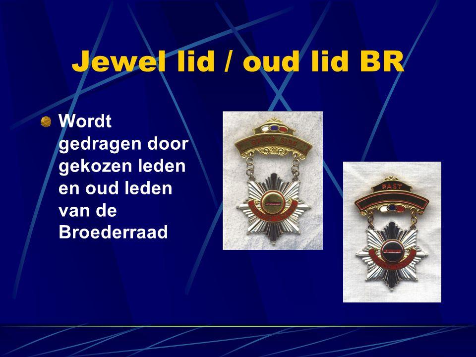Jewel lid / oud lid BR Wordt gedragen door gekozen leden en oud leden van de Broederraad