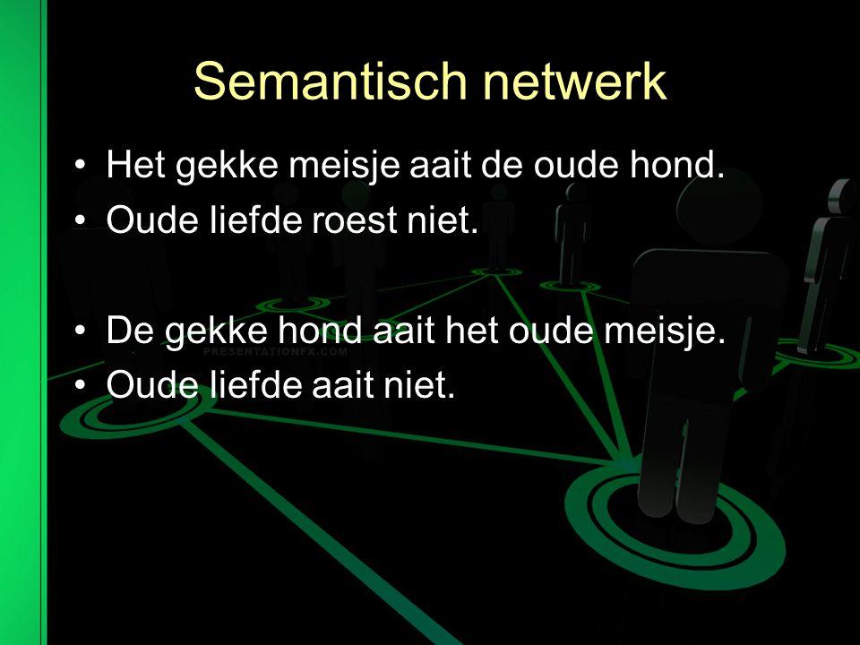 Semantisch netwerk Het gekke meisje aait de oude hond.