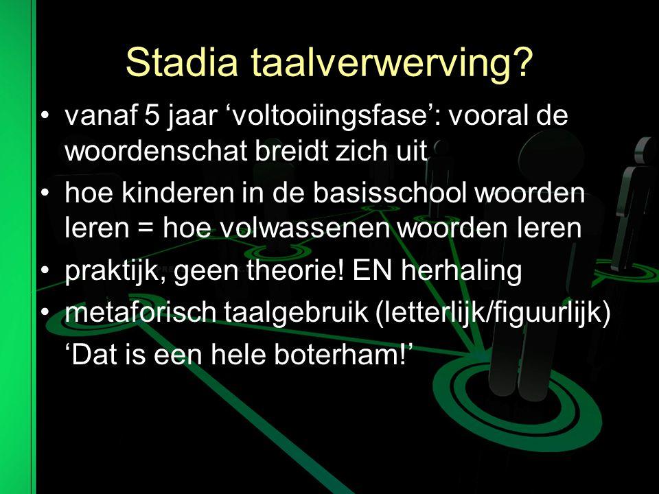 Respecteer 'divergent thinking' Bron: 'Taal centraal' (de Rijke & de Wit)