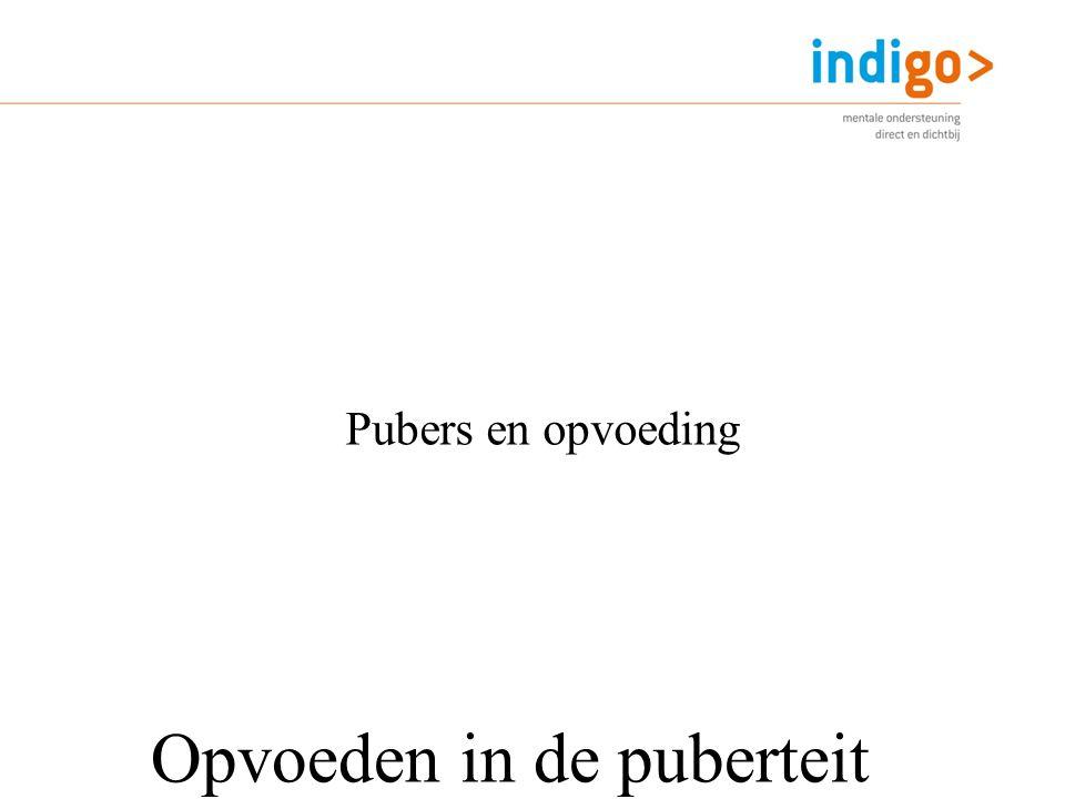 Opvoeden in de puberteit Pubers en opvoeding