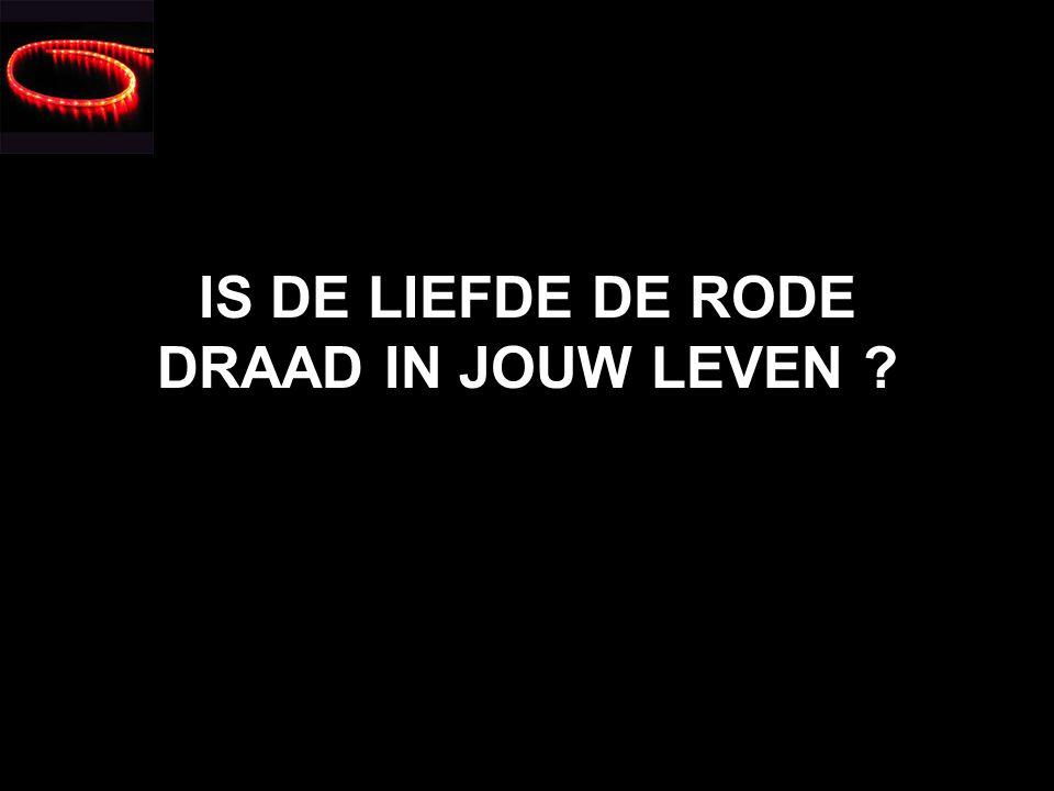 WAT IS DE RODE DRAAD IN JOUW LEVEN ? IS DAT DE LIEFDE ?