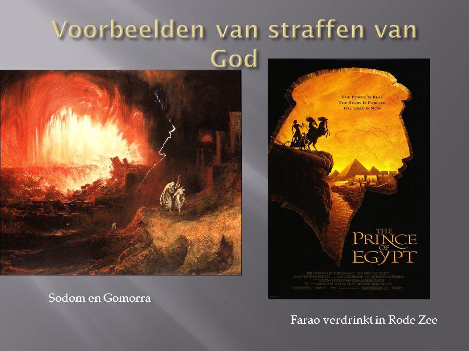 Sodom en Gomorra Farao verdrinkt in Rode Zee