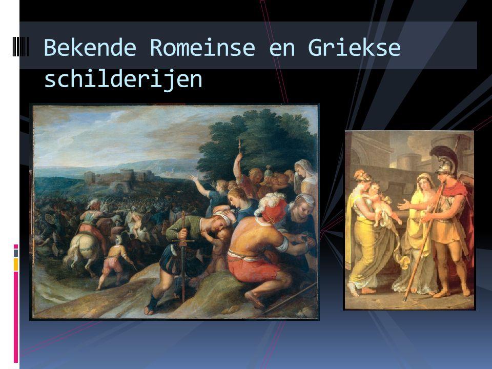 Bekende Romeinse en Griekse schilderijen