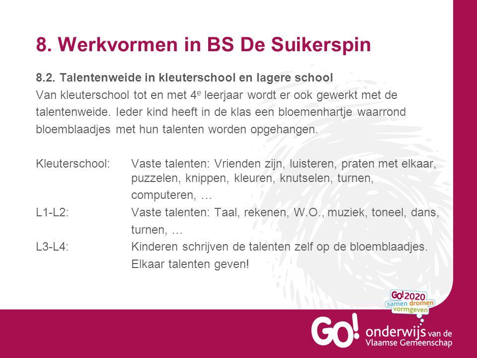 8.Werkvormen in BS De Suikerspin 8.2.