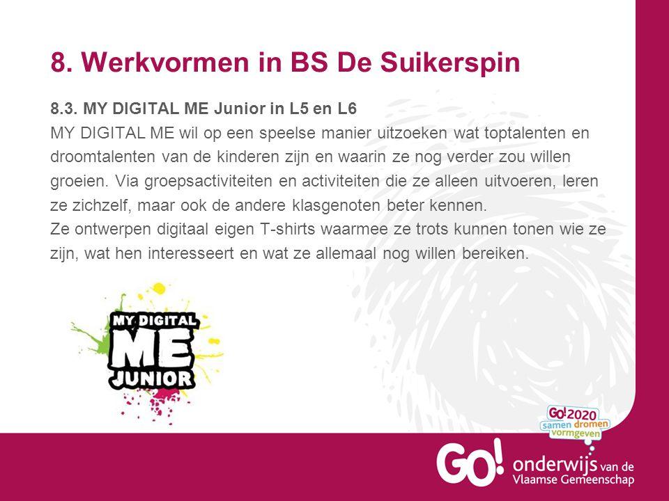 8.Werkvormen in BS De Suikerspin 8.3.