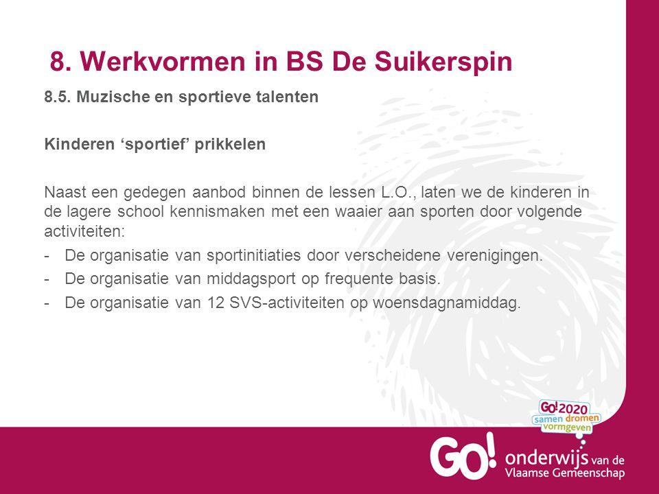 8.Werkvormen in BS De Suikerspin 8.5.