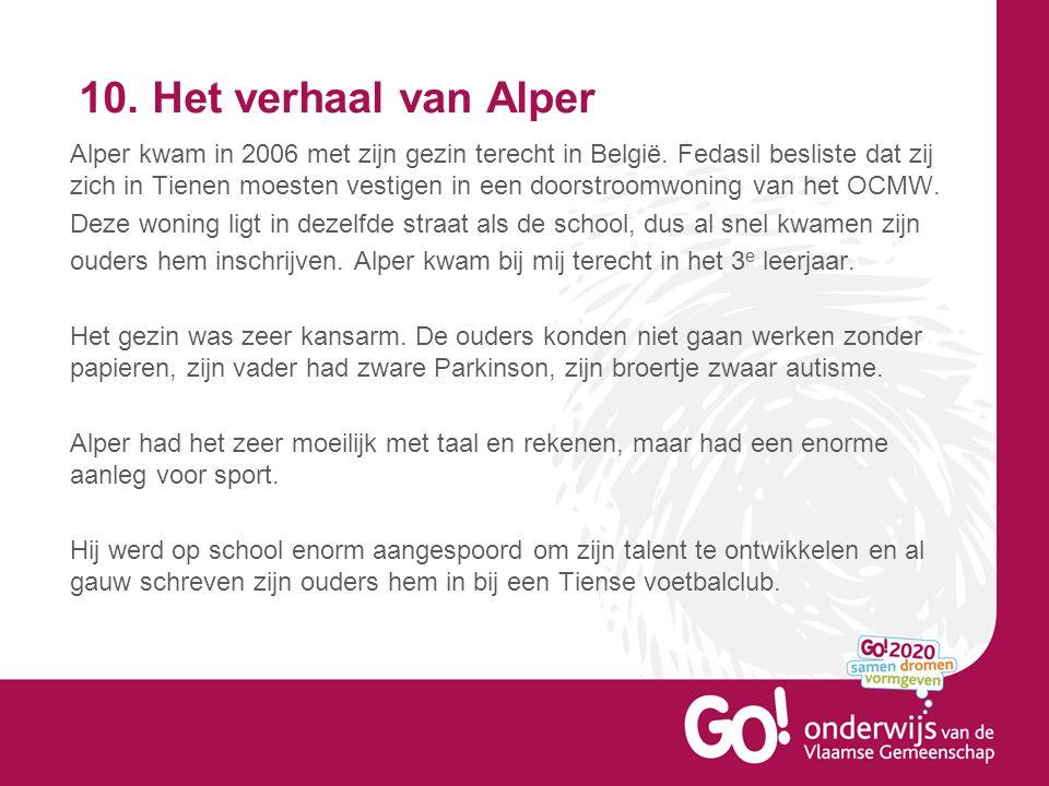 10.Het verhaal van Alper Alper kwam in 2006 met zijn gezin terecht in België.