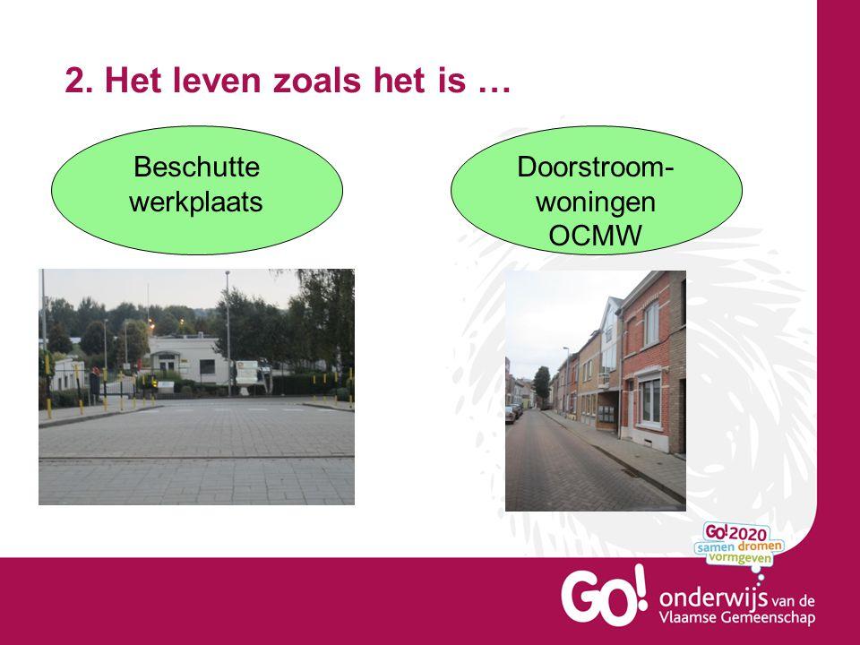 2. Het leven zoals het is … Beschutte werkplaats Doorstroom- woningen OCMW