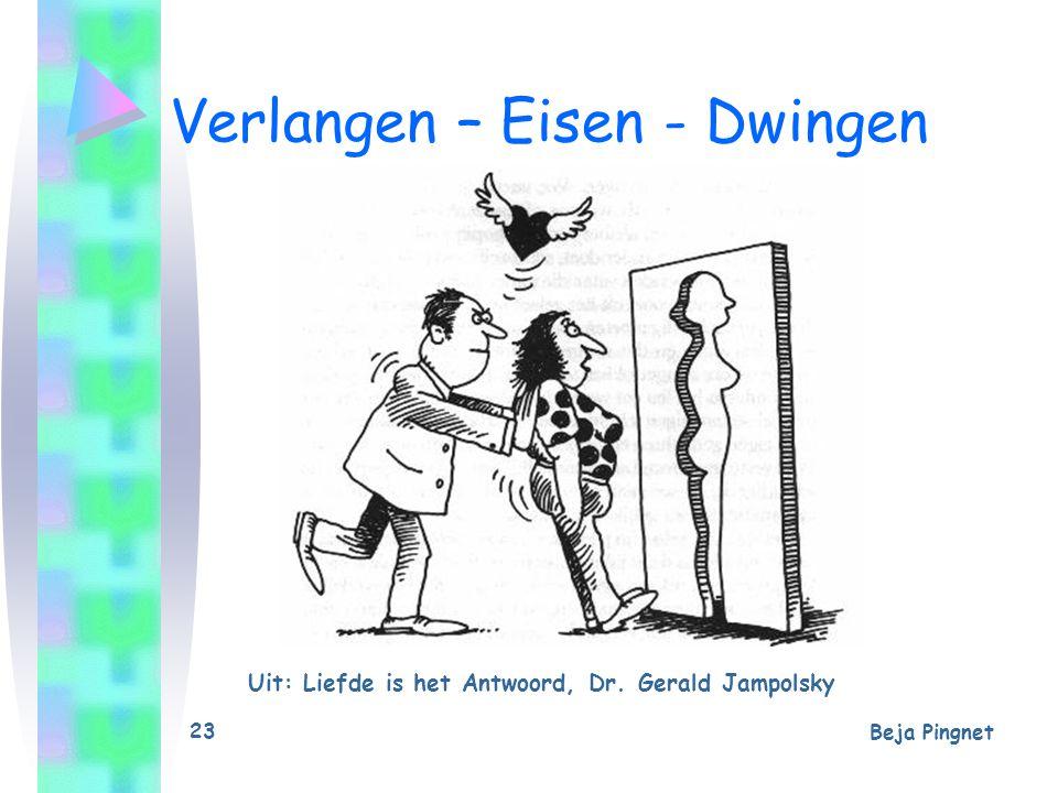 Beja Pingnet 23 Verlangen – Eisen - Dwingen Uit: Liefde is het Antwoord, Dr. Gerald Jampolsky