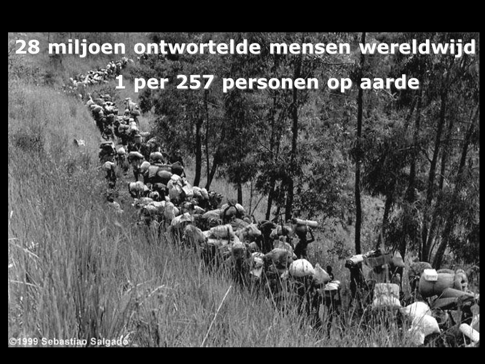 Een goede buur… 80% van de vluchtelingen (8,5 miljoen mensen) wordt opgevangen in de eigen regio, meestal in een buurland.