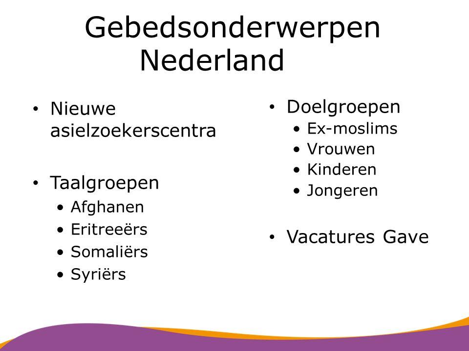 Asielzoekersopvang in Nederland 15.000 asielzoekers in 43 asielzoekerscentra