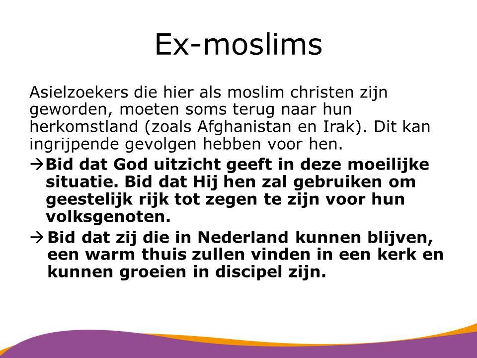 Syriërs Er komen veel Syriërs naar Nederland door de oorlog in hun land.