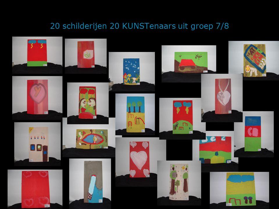 20 schilderijen 20 KUNSTenaars uit groep 7/8