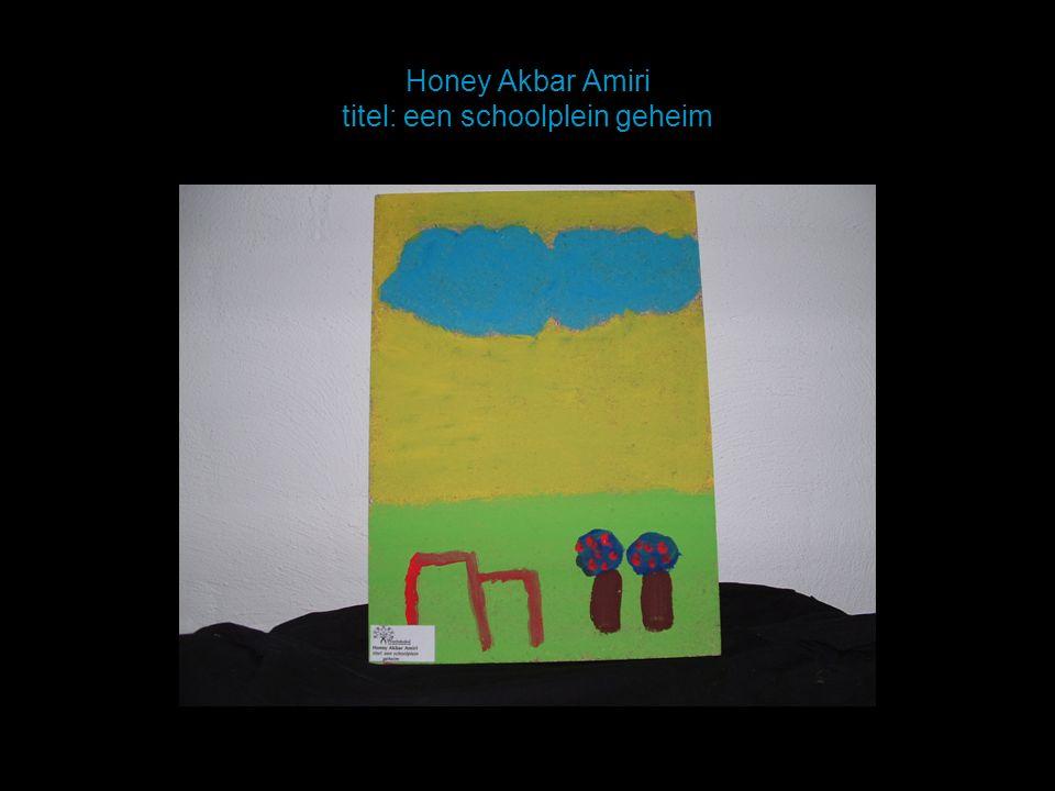 Honey Akbar Amiri titel: een schoolplein geheim
